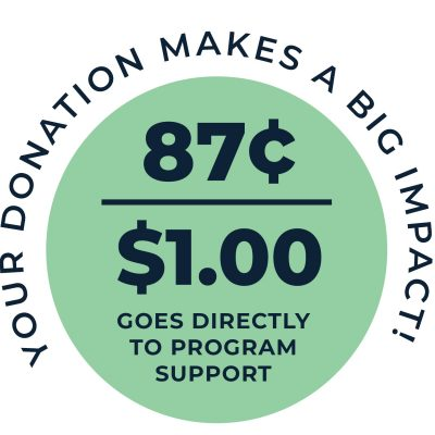 your donation makes an impact graphic