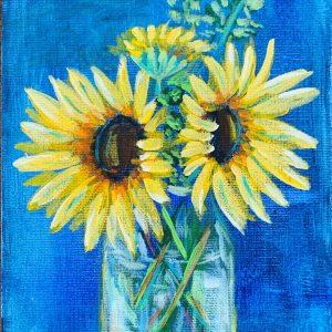 Burst of Sun. 6x8 acrylic on canvas board. $55 unframed v2